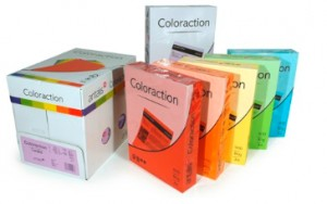 Papier Coloraction A-4 160g/m2 cytrynowy Canary (250 ark.)